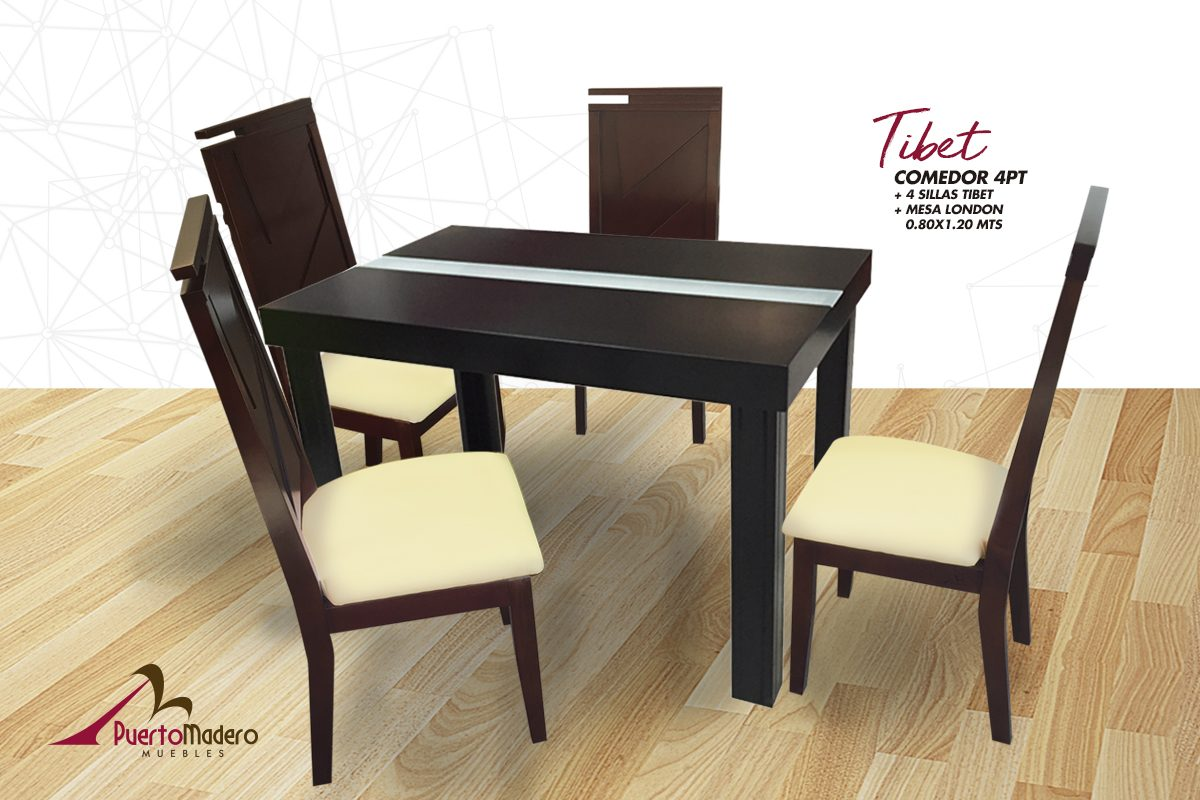 Comedor Tibet 4pts Mesa London
